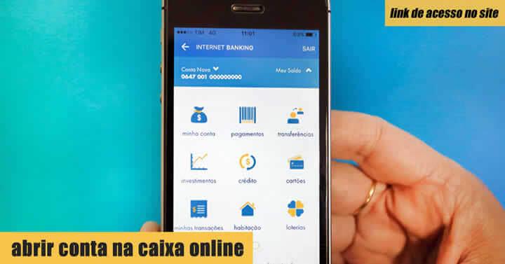 Abrir conta na Caixa online - Como Fazer Online