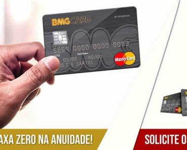 Como solicitar cartão de crédito BMG Card