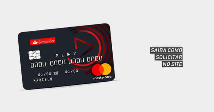 Como solicitar Cartão Santander Play