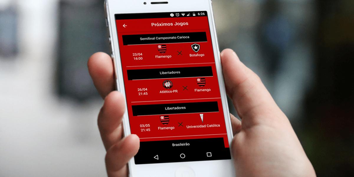 Conheça o app do Flamengo - Notícias, lances vídeos e muito mais